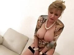 Jacking construction with hot mature Female