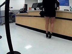 Latina granny high heels short shorts(Playtime)