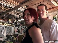 Three man rod for red-haired whore