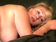 Hairy big bap blonde takes a drilling