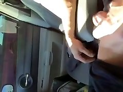 Car spunk-pump flash for mature woman