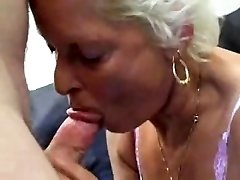 Granny Sucks Plumbs And Swallows !