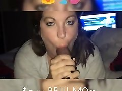Mature BBW jizz swallow