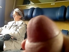 Teach Dick flash to Aged - with Cum