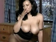 Mature in Stockings Frigs Herself