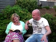 Chubby mommy with enormous greedy vagina gets young cock