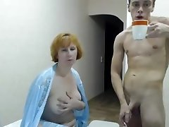 Young guy and Mature Woman Nailing