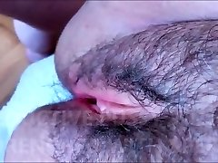 HAIRY AND SEDUCTIVE PUSSY WITH TENDER LIPS DRENCHED WITH PLEASURE GEL