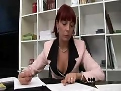 Italian Sandy-haired Mature office manager