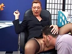 Stylish mature assistant fucked