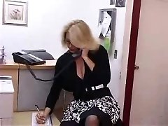 Busty Mature Secretary Gets Pounded in Office