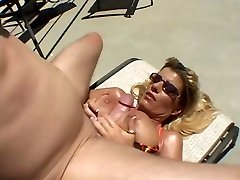 Hot Tanned Big-chested Cougar Krystal Summers Fuckin' Poolside