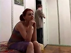 Russian mature mom and a friend of her son-in-law! Amateur!