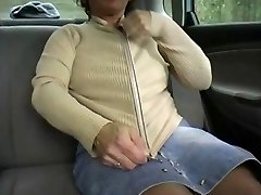 Red-haired-BBW-Granny Outdoors in a Car by 2 Dudes