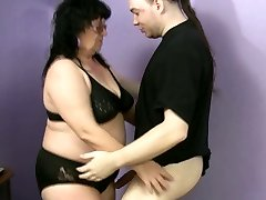 Ugly fatso Ramona desires to please a strong hot man-meat