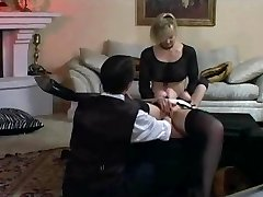 Lady and maid bound and fisted