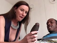 Lara Latex Quenches Her Hunger For Dark-hued Cock