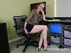 Skinny Milf Betty Blaze gets all wild at the office