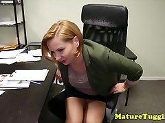 Office stepmom jerking pervert stepsons stiffy