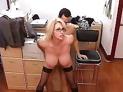 Big-boobed Mature Secretary Gets Fucked In Office