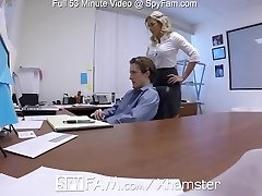 SpyFam Step sonny office anal boink with step mom Cory Chase