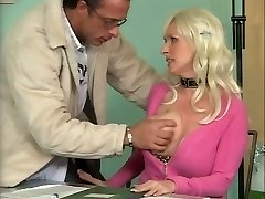 Big-boobed German Mature Romping in Office