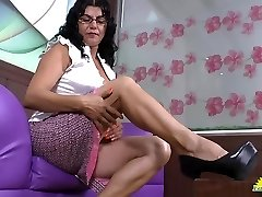 LatinChili mature latina Lucia frolicking