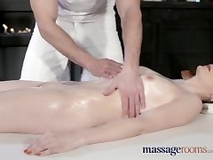 Massage Rooms Beautiful pale skinned Mom splashes for the first-ever time