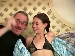Tiny Tits Skinny Hairy Fucked By Mature Guy,By Blondelover