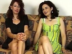 Two Mature Hairy Female s Give Him Blowjob