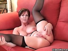 British finest milf Joy exposes her inborn beauty