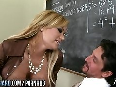 Steaming milf plumbs teacher