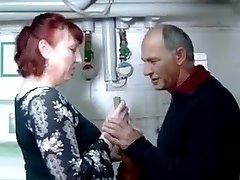 German hot light-haired in fishnet fucks her pal