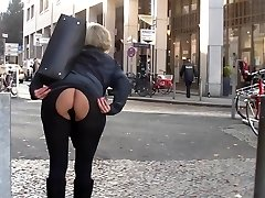 Mom and ass-fuck cork in public