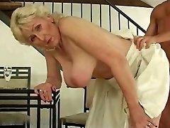 Platinum-blonde Hairy Grandmother R20
