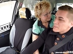 Czech Mature Blonde eager for Taxi Drivers Cock