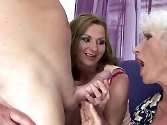 Mother and grannie fucked and pissed on by son