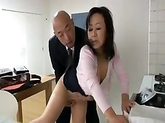 Japanese mom wants her son's mate's cock and gets it to fuck