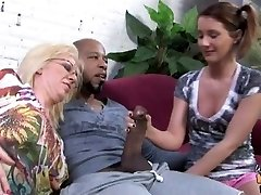 Dark creampie for white mamma and daughter