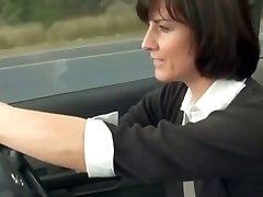 lascivious mom stopped car to masturbate