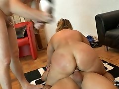 First-timer bbw french mature sodomized DP fisted n facialized