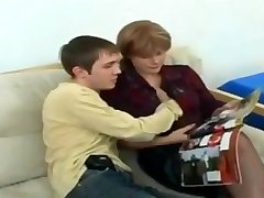 Ultra-cutie Mom In Stockings And Man Anal