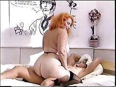 Big ass redhead mature fucks a youthful man meat