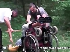 Grandma gets forced to fuck-fest