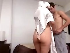 Hot Arab Milf Big Ass fucked hard by European guy