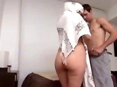 Hot Arab Milf Big Ass fucked hard by European boy