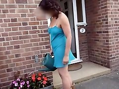 Demonstrating neighbours upskirt gardening