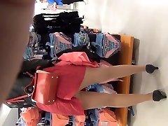 Zadran mini-skirt moments of the shooting