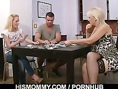 Strip poker leads to vagina toying