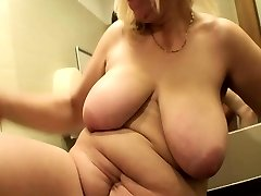 Blonde Mature Fucked In A Public Mall Toilet
